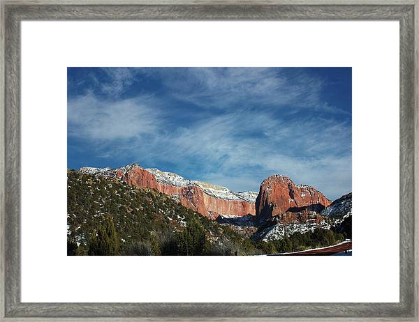 Kolob Canyon Framed Print