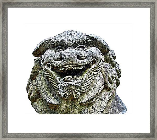 Komainu04 Framed Print