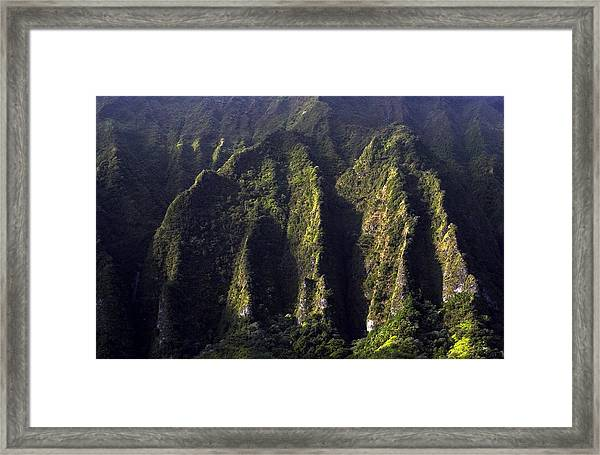 Koolau Range, Oahu Framed Print