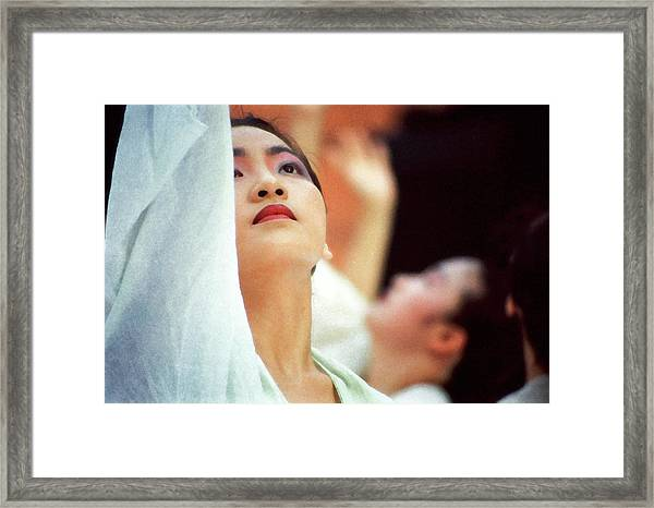 Korean Dancers Framed Print by T Monticello