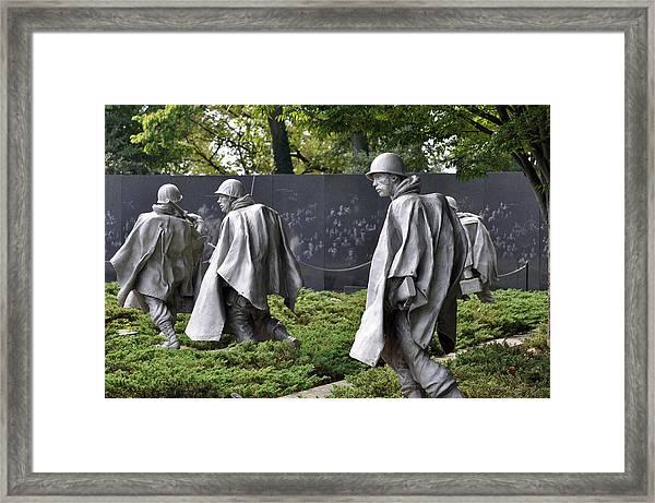 Korean War Memorial 3 Framed Print by Teresa Blanton