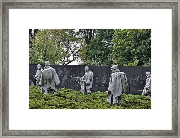Korean War Memorial 4 Framed Print by Teresa Blanton