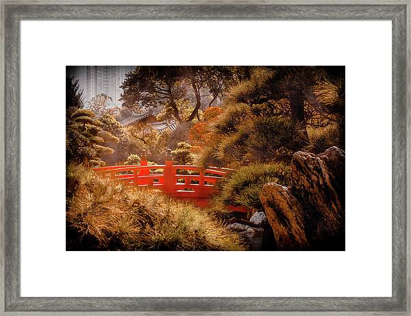 Kowloon - Red Bridge Framed Print