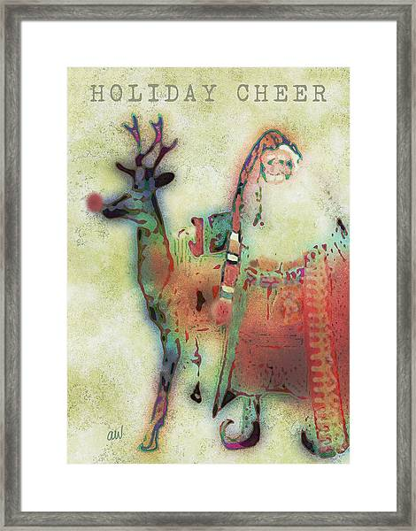 Kris And Rudolph Framed Print
