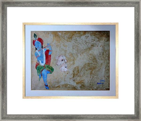Krishna Framed Print by Rooma Mehra