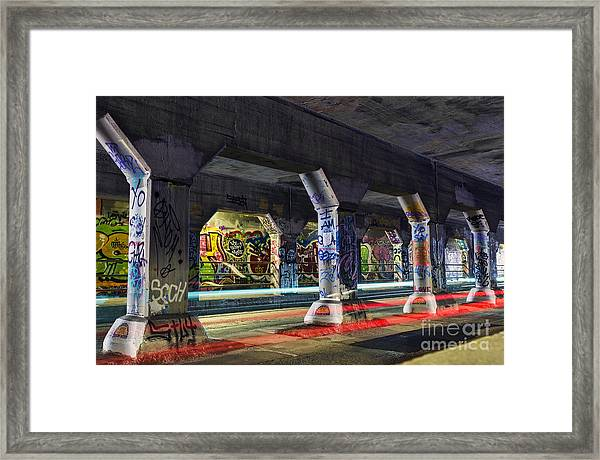 Krog Street Tunnel Framed Print