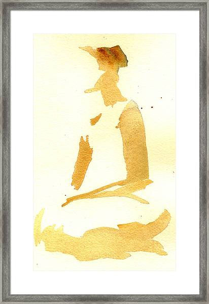Kroki 2015 03 28_29 Maalarhelg 3 Akvarell Watercolor Figure Drawing Framed Print