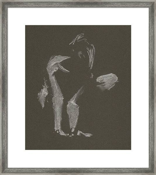 Kroki 2015 10 03_10 Figure Drawing White Chalk Framed Print