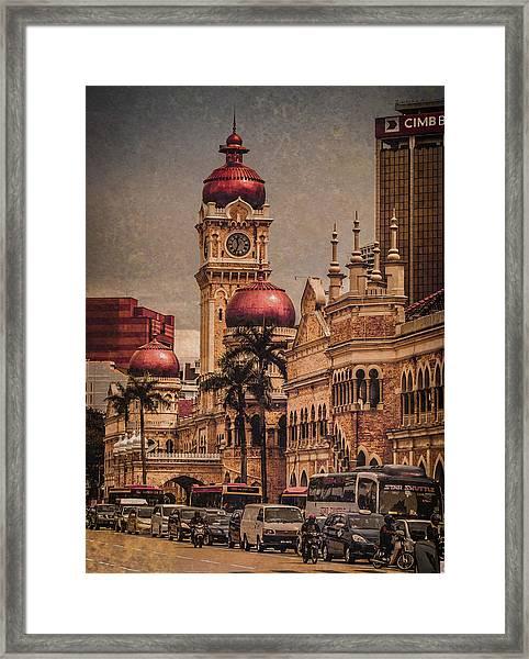 Kuala Lumpur, Malaysia - Red Onion Domes Framed Print