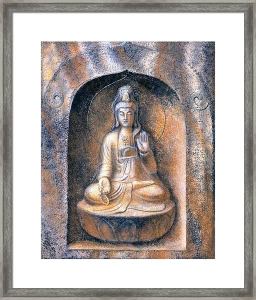 Kuan Yin Meditating Framed Print