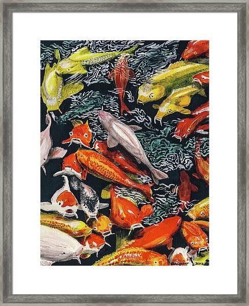 Kure Koi Pond Framed Print