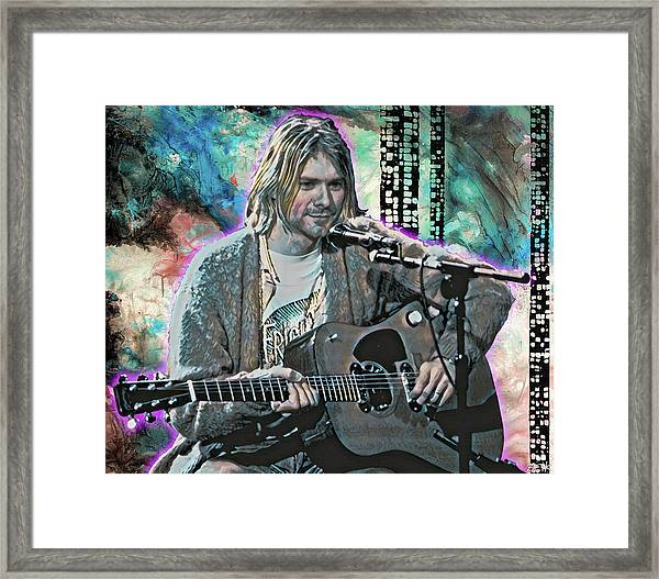 Kurt Cobain - Come As You Are Framed Print by Bobby Zeik