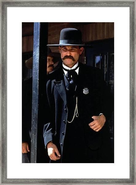 Kurt Russell As Wyatt Earp Tombstone Arizona 1993-2015 Framed Print