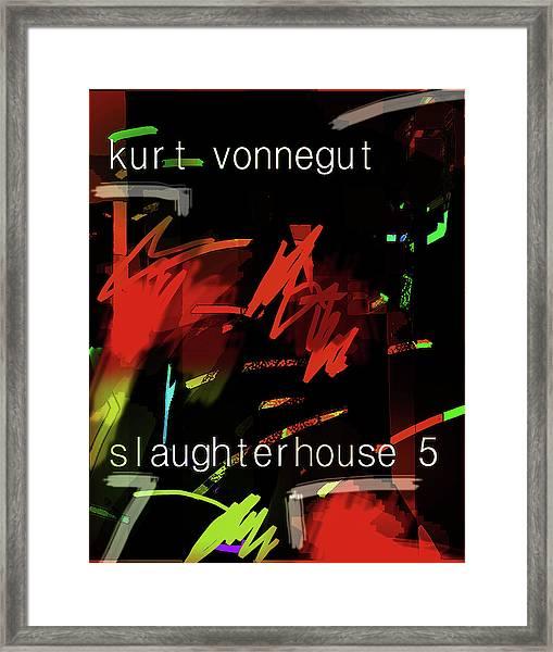 Kurt Vonnegut Poster  Framed Print