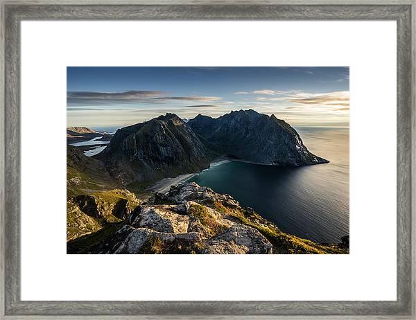 Kvalvika Beach Framed Print
