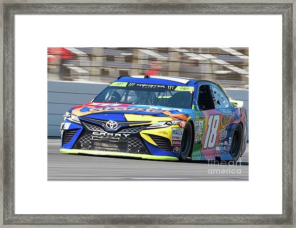 Kyle Busch Coming Out Of Turn 1 Framed Print