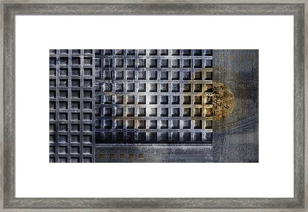 Kyoto Doorways In Blue Series 1 Framed Print