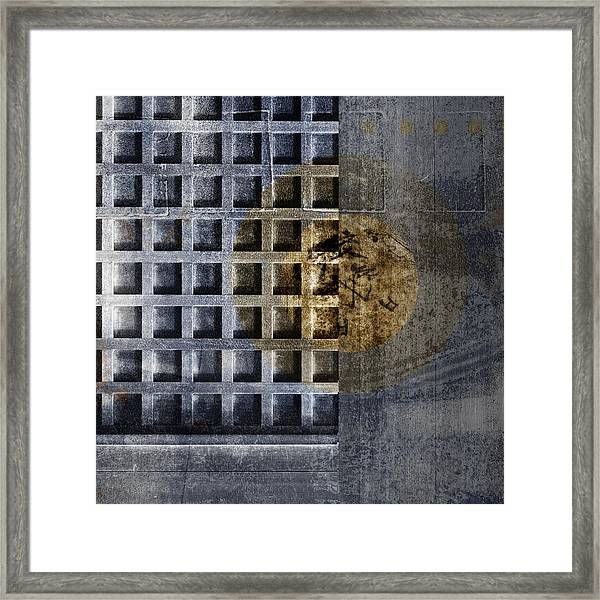 Kyoto Doorways In Blue Series 3 Framed Print