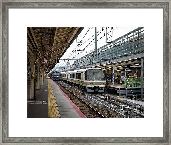 Kyoto To Osaka Train Station, Japan Framed Print