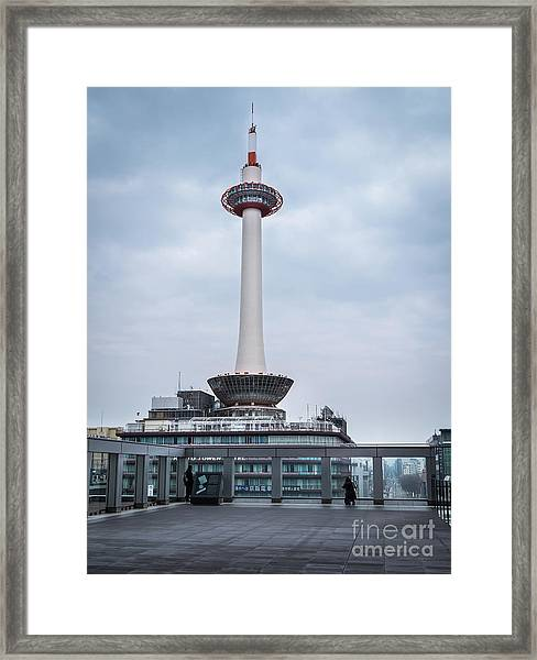 Kyoto Tower, Japan Framed Print