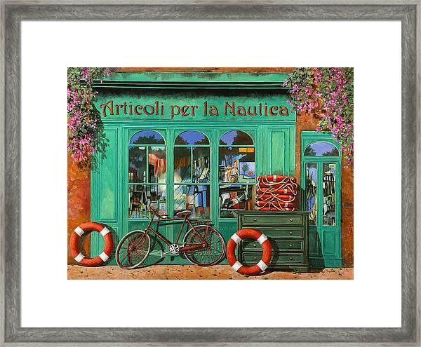 La Bicicletta Rossa Framed Print