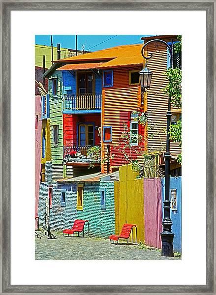 La Boca - Buenos Aires Framed Print