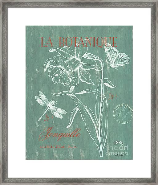 La Botanique Aqua Framed Print