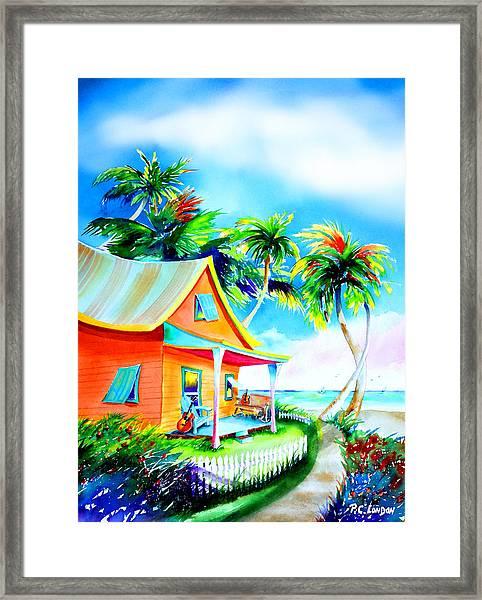 La Casa Cayo Hueso Framed Print