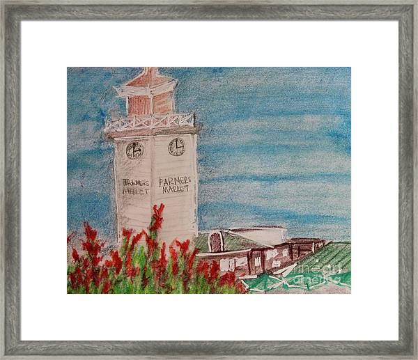 La Farmer's Market Framed Print