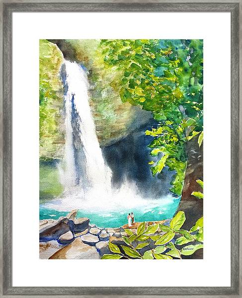La Fortuna Waterfall Framed Print