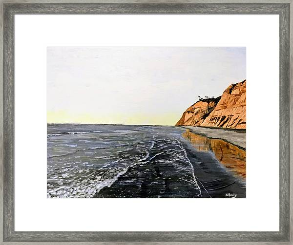 Framed Print featuring the painting La Jolla Shoreline by Kevin Daly