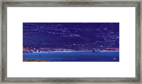 La Jolla Shores Pier From Torrey Pines Reserve Framed Print