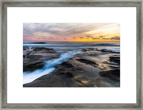 La Jolla Sunset Framed Print