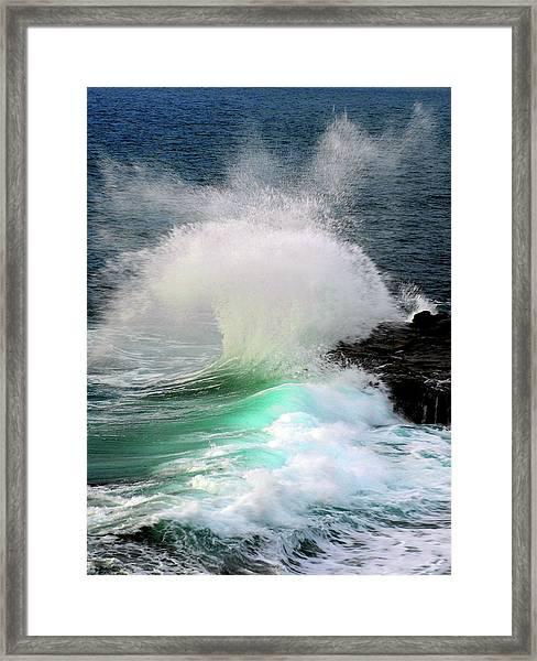 La Jolla Surge Framed Print