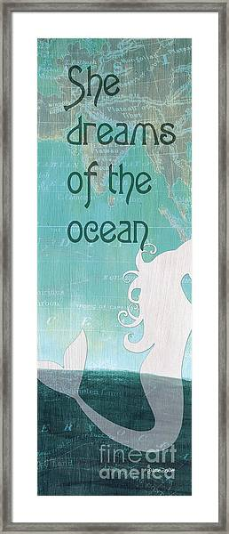 La Mer Mermaid 1 Framed Print