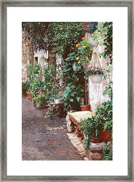 La Panca Di Pietra Framed Print