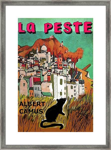 La Peste  Albert Camus Poster Framed Print