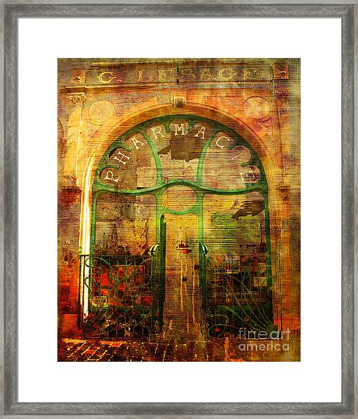La Pharmacie 2016 Framed Print
