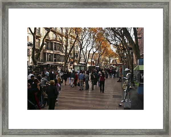 La Rambla II Framed Print