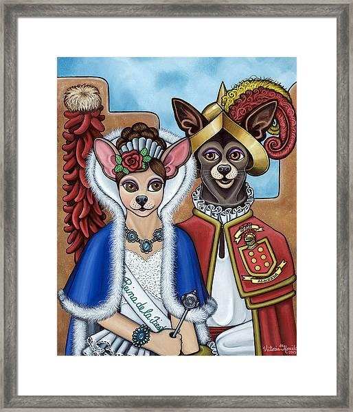 La Reina Y Devargas Framed Print