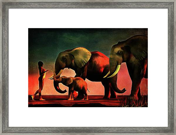 Framed Print featuring the painting La Rencontre by Jan Keteleer