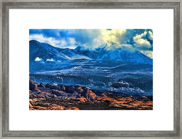 La Sal Mountains Arches National Park Framed Print