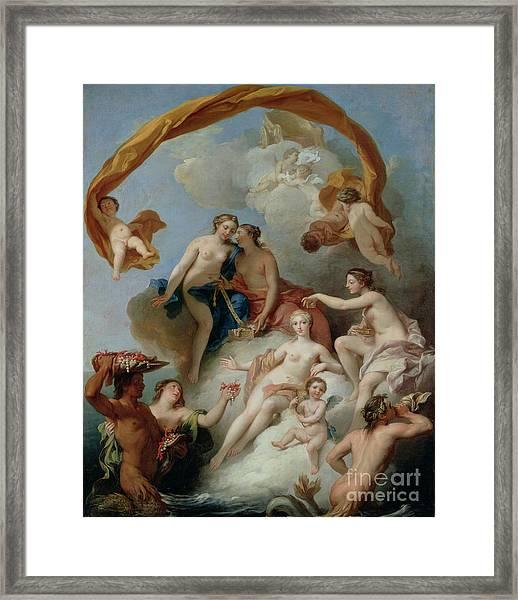 La Toilette De Venus Framed Print