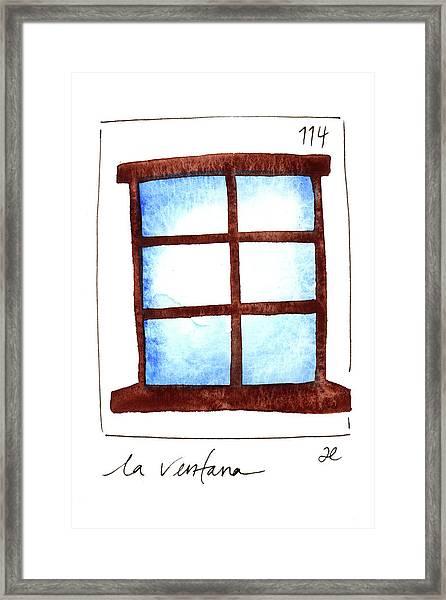 La Ventana Framed Print