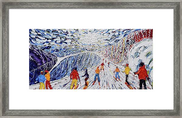 La Vizelle Courchevel Framed Print