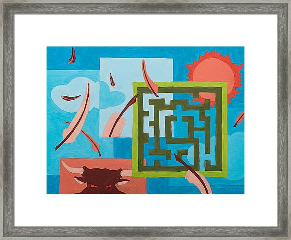 Framed Print featuring the painting Labyrinth Day by Break The Silhouette