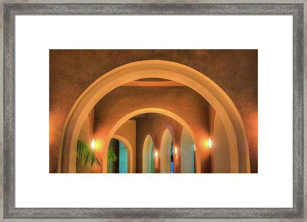 Labyrinthian Arches Framed Print