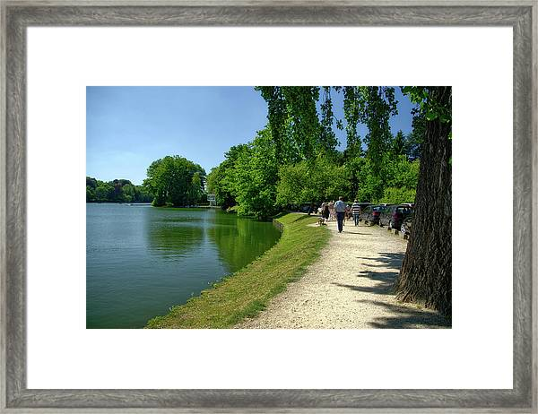 Lac De Genval Framed Print
