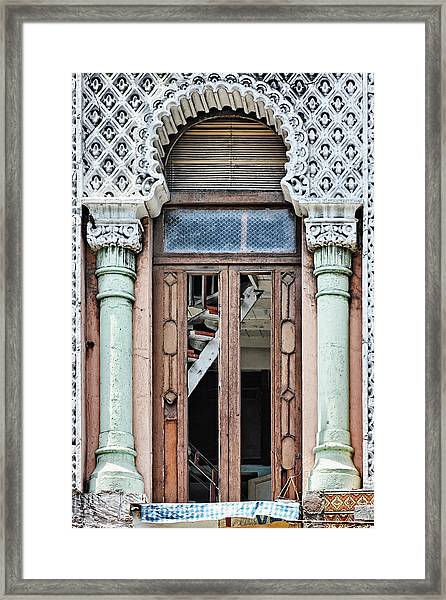 Lace Facade Framed Print