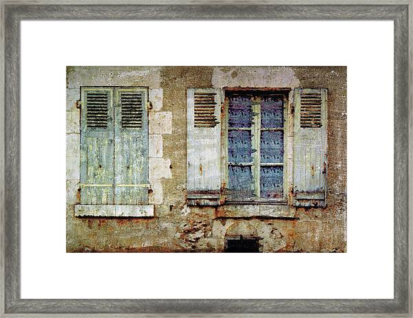 Lace Window Framed Print